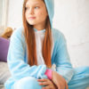 Кигуруми детский Голубой единорог