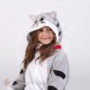 Кигуруми детский серый котенок Чи