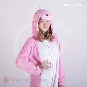 Кигуруми Динозавр розовый