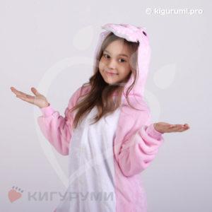 Кигуруми детский Розовый динозаврик