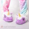 Тапки-единороги фиолетовые открытые